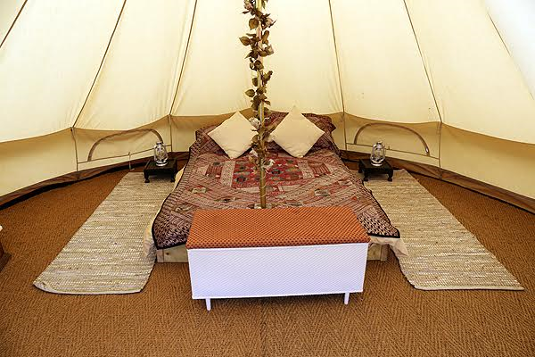Bell Tent holiday in the heart of rural Devon & Bell tents